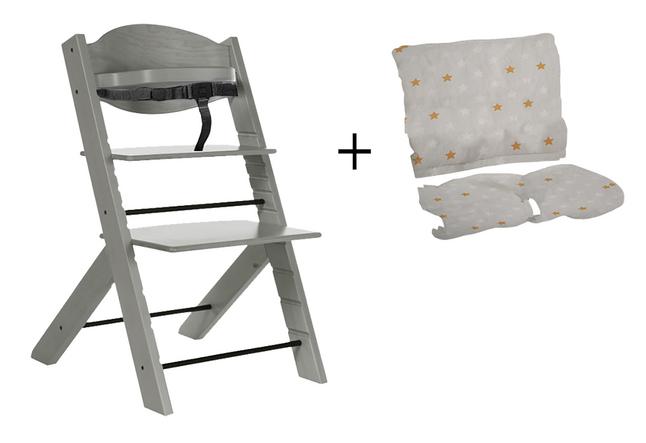 Image pour Treppy Chaise haute avec coussin réducteur gratuit woody gray à partir de ColliShop