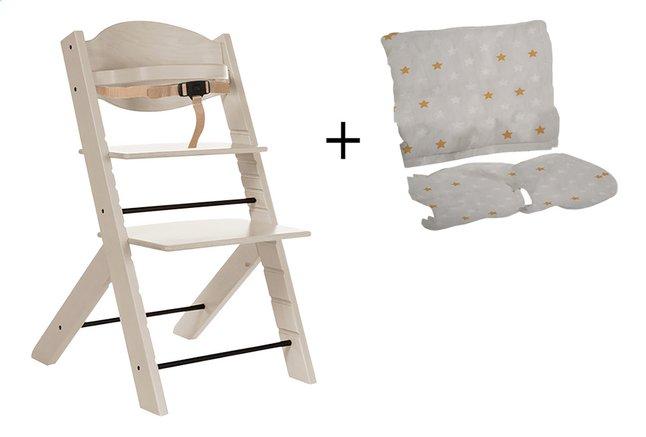 Image pour Treppy Chaise haute avec coussin réducteur gratuit woody white à partir de ColliShop