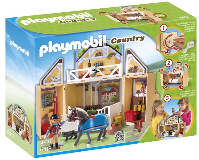 Afbeelding van Playmobil Country 5418 Speelbox Paardenstal from ColliShop