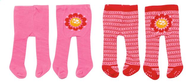 Image pour Dolly Moda set de vêtements 2 paires de collants fleur à partir de ColliShop