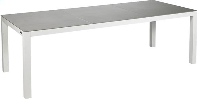 Afbeelding van Tuintafel Maurs grijs/wit L 237 x B 99.5 cm from ColliShop