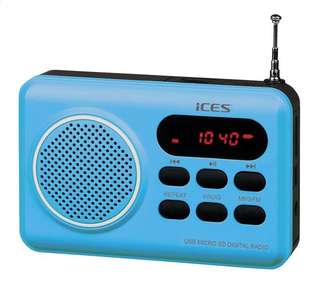 Afbeelding van iCES radio IMPR-112 blauw from ColliShop