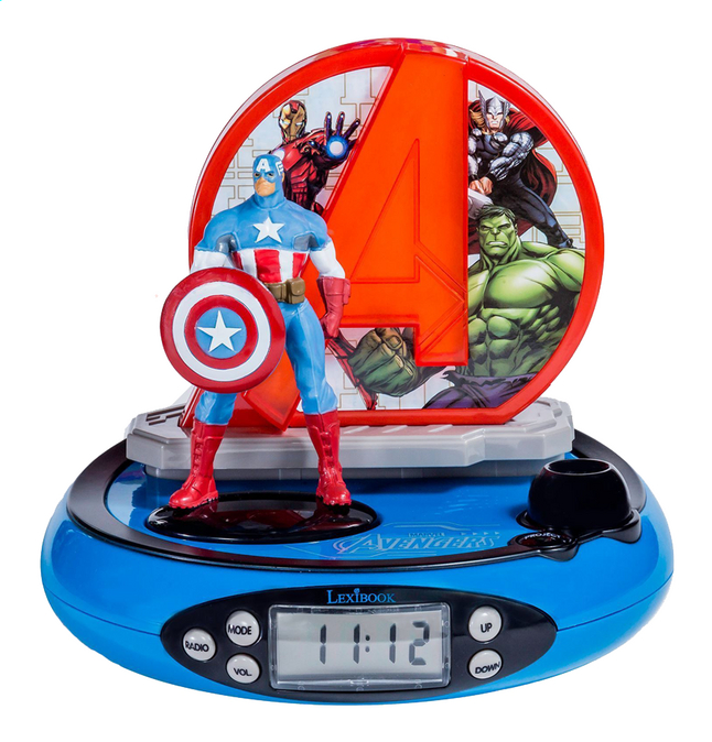 Image pour Lexibook radio-réveil avec projection Avengers Captain America à partir de ColliShop