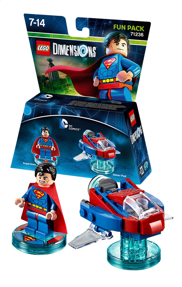 Afbeelding van LEGO Dimensions figuur Fun Pack DC Comics 71236 Superman from ColliShop
