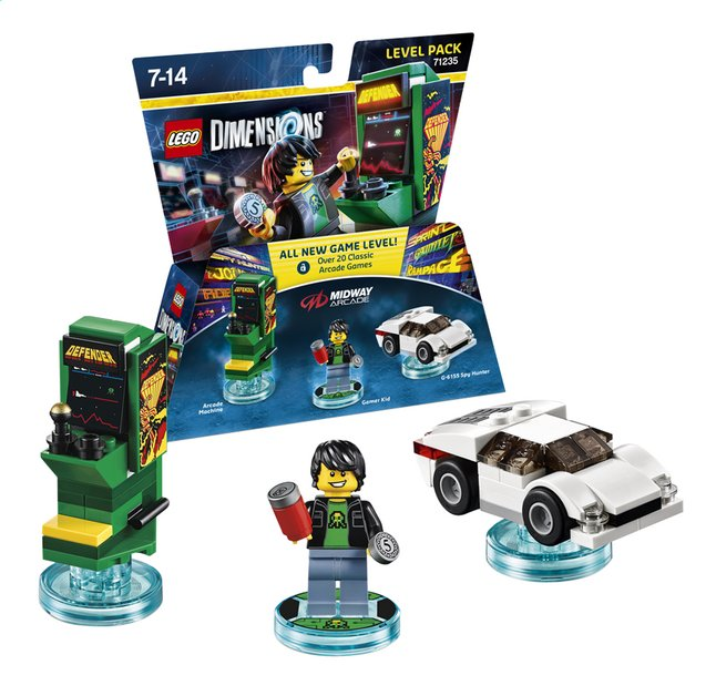 Image pour LEGO Dimensions figurine Level Pack Midway Arcade 71235 Retro games à partir de ColliShop