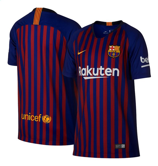 Afbeelding van Nike Voetbalshirt FC Barcelona Kids blauw/rood from ColliShop