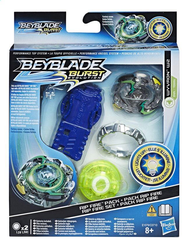 Beyblade draaitol Rip Fire Pack - Wyvron W2