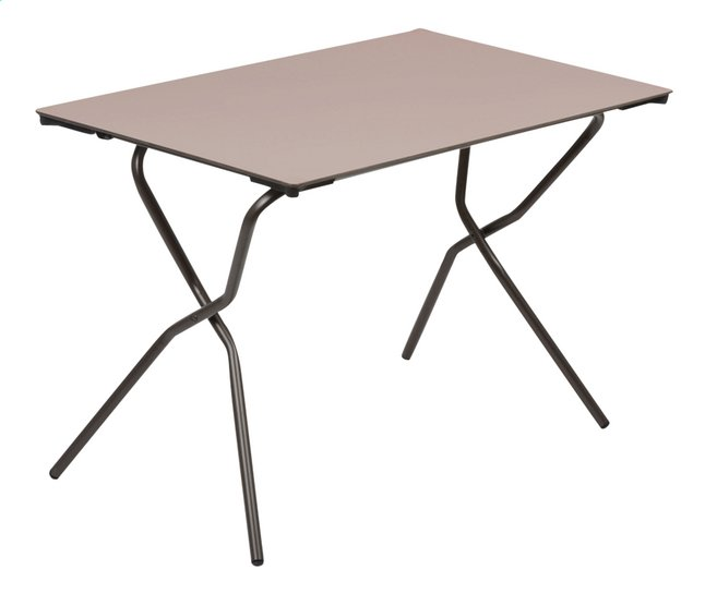 Lafuma Table pliante Anytime taupe L 110 x Lg 68 cm | ColliShop