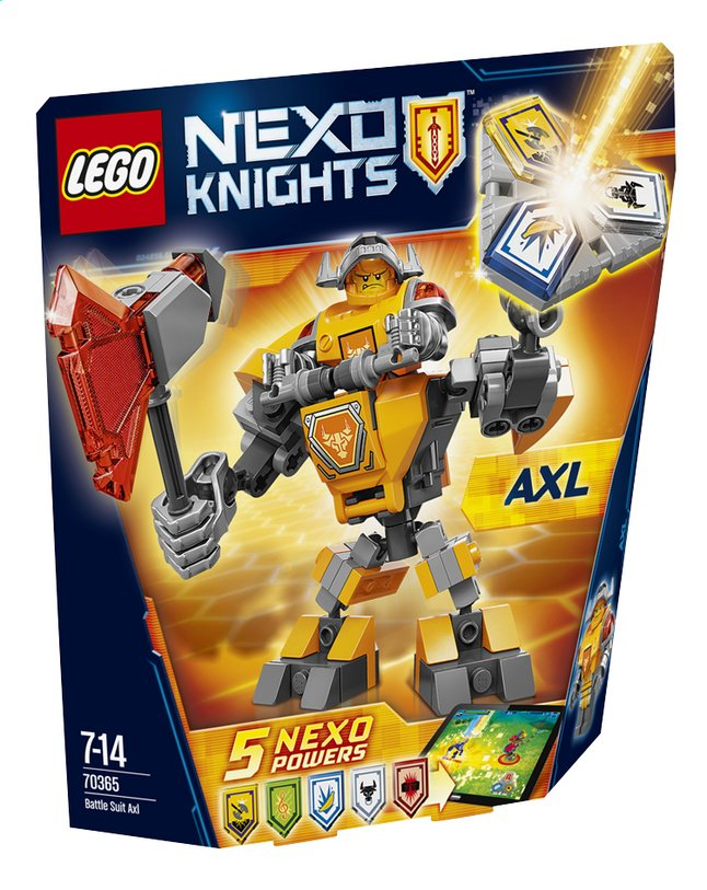 Afbeelding van LEGO Nexo Knights 70365 Strijdharnas Axl from ColliShop