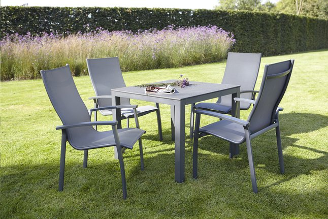 Afbeelding van Suns Blue Tuinset Bonito/Modeo antraciet  L 90 x B 90 cm from ColliShop