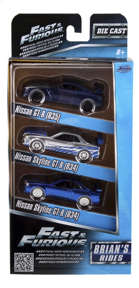 Afbeelding van Auto Fast & Furious 3 pack Brian's Rides from ColliShop