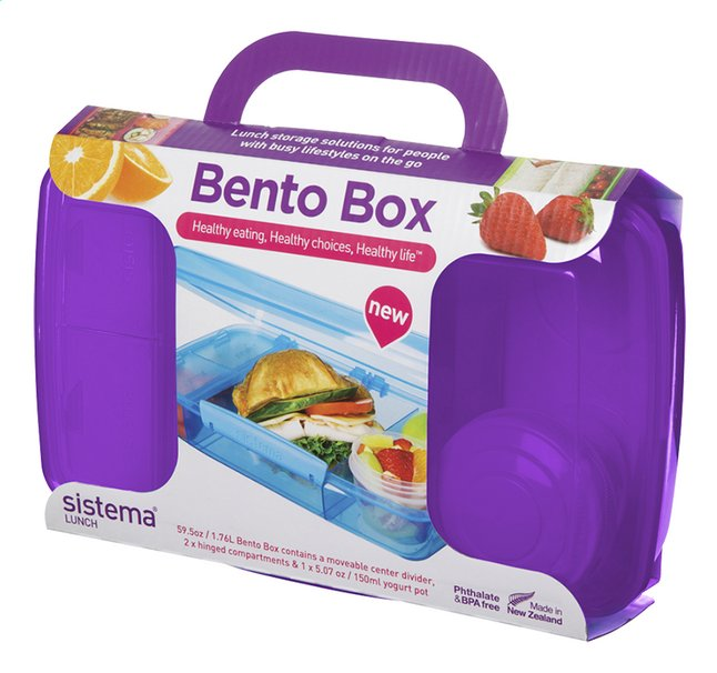 Afbeelding van Sistema lunchbox Bento Box paars from ColliShop