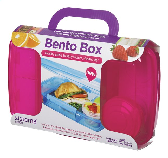 Image pour Sistema lunchbox Bento Box rose à partir de ColliShop