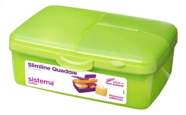 Image pour Sistema lunchbox Slimline Quaddie vert à partir de ColliShop