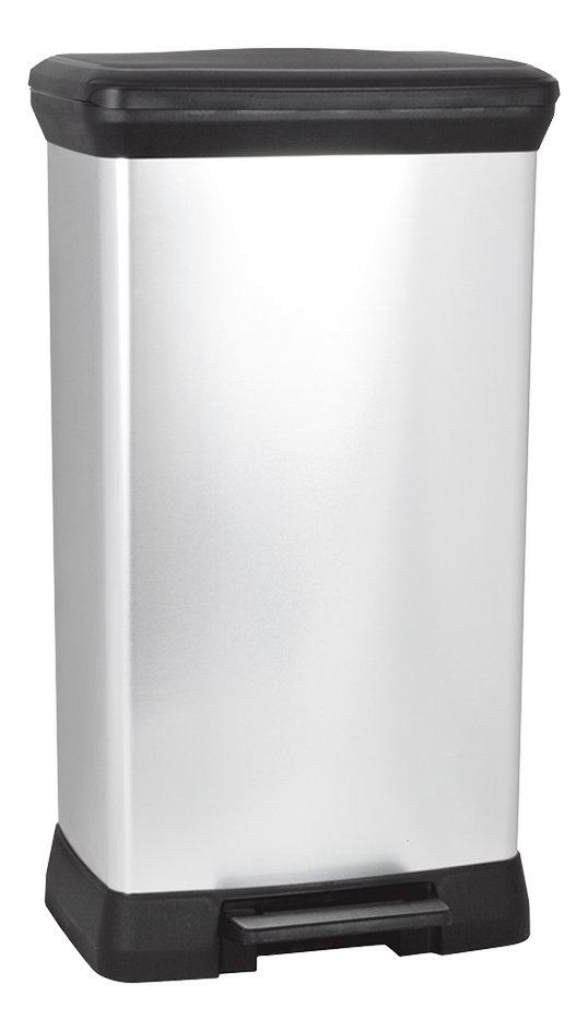 Image pour Curver Poubelle à pédale Decobin gris argenté 50 l à partir de ColliShop