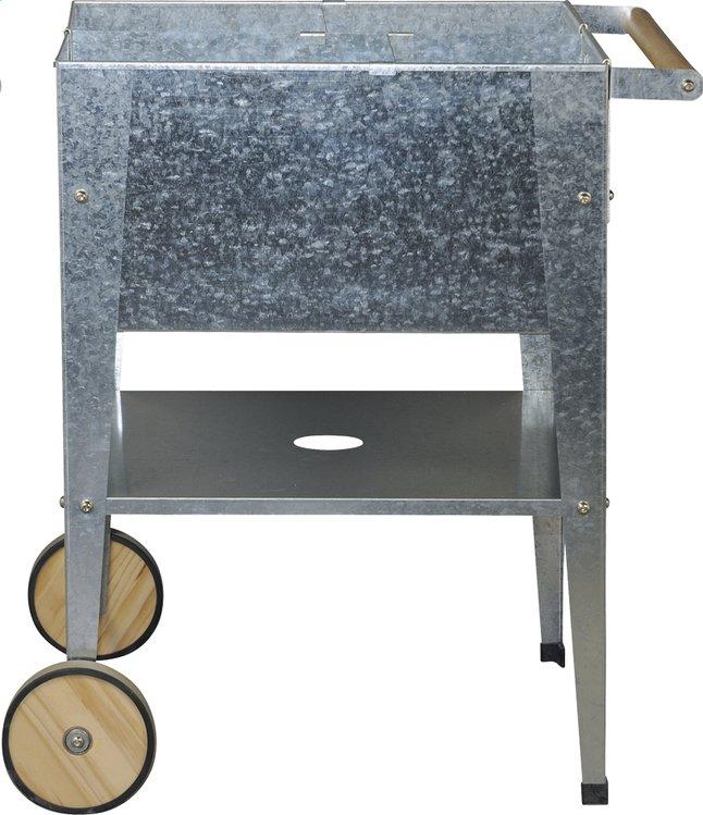 Afbeelding van Kweektafel Wheels zilver 60 x 60 cm from ColliShop