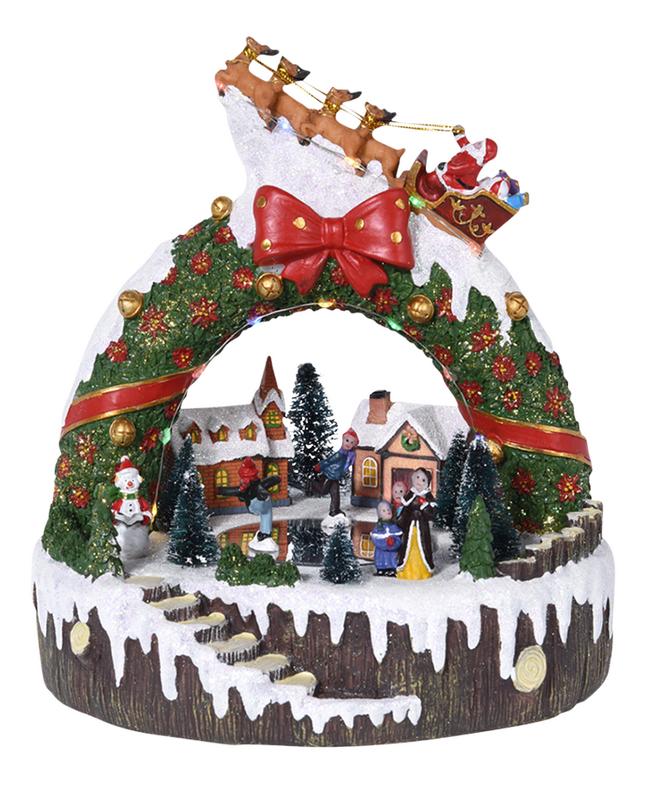 Kersttafereel met led dennenkroon