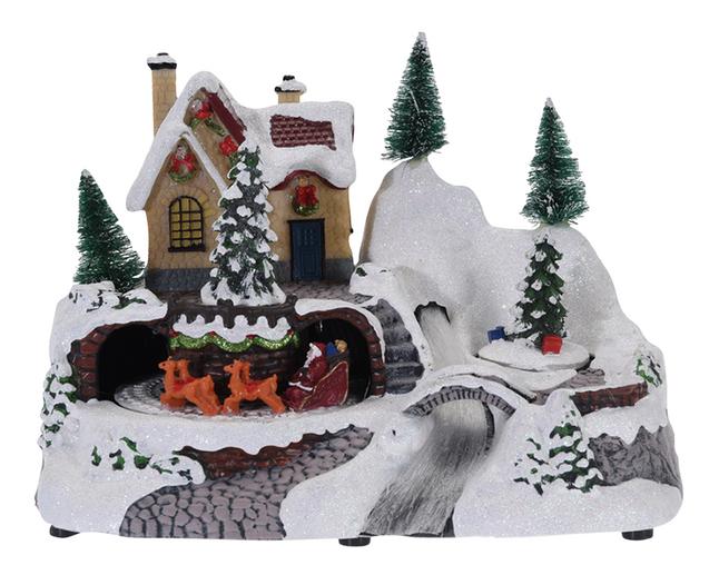 Afbeelding van Kersttafereel met licht en beweging - kerstboom met geschenkjes from ColliShop