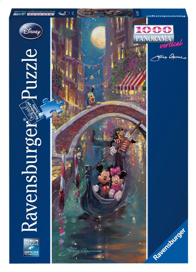 Afbeelding van Ravensburger puzzel Mickey en Minnie Mouse in Venetië from ColliShop