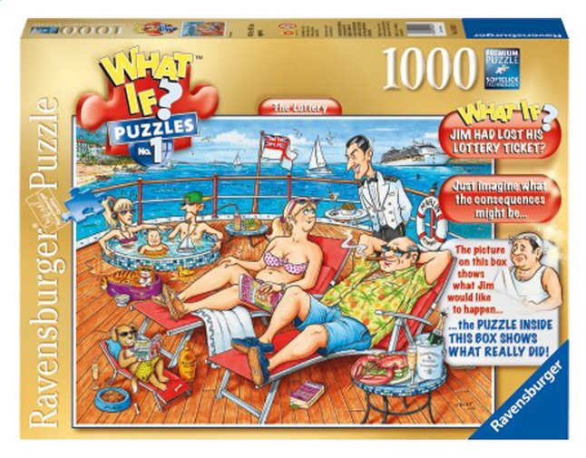 Afbeelding van Ravensburger puzzel What If? 1 The Lottery from ColliShop