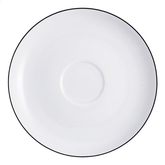 Thun 6 sous-tasses pour tasses à café Ligne Grey Tom Ø 14 cm