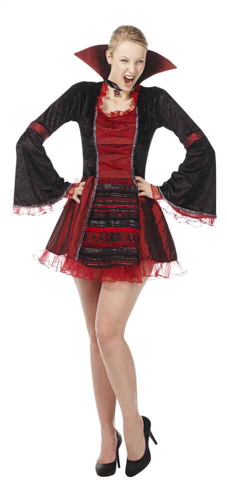 Image pour Déguisement de vampiresse rouge taille 38 à partir de ColliShop