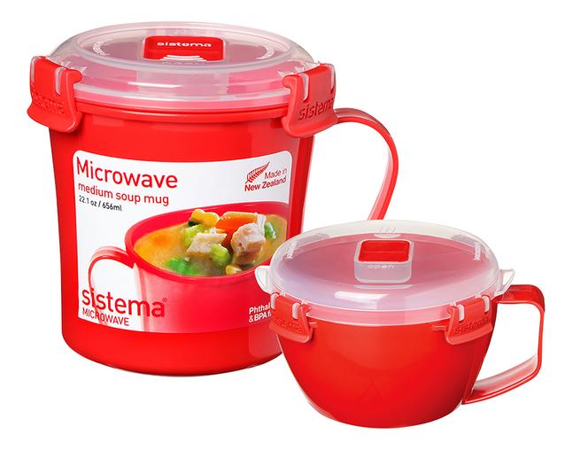 Sistema 2-delige set Microwave Medium Soup + Noodle Bowl