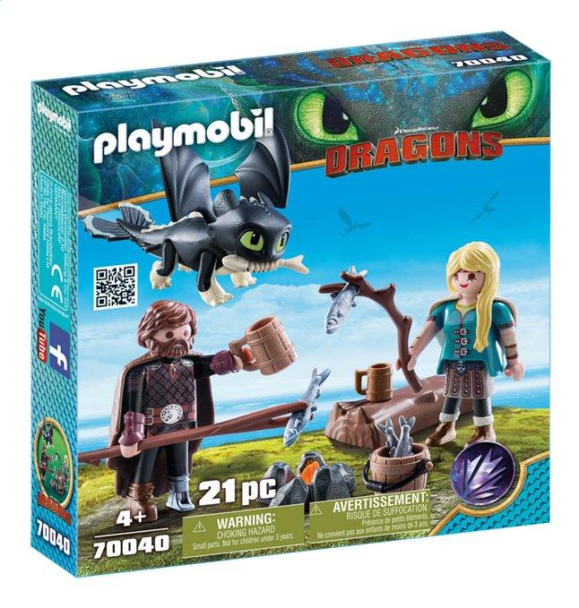 PLAYMOBIL Dragons 70040 Harold et Astrid avec un bébé dragon