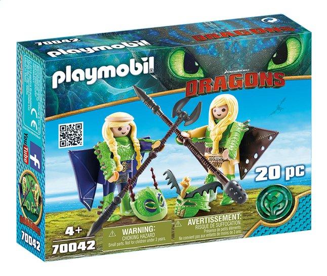 PLAYMOBIL Dragons 70042 Kranedur et Kognedur en combinaison de vol