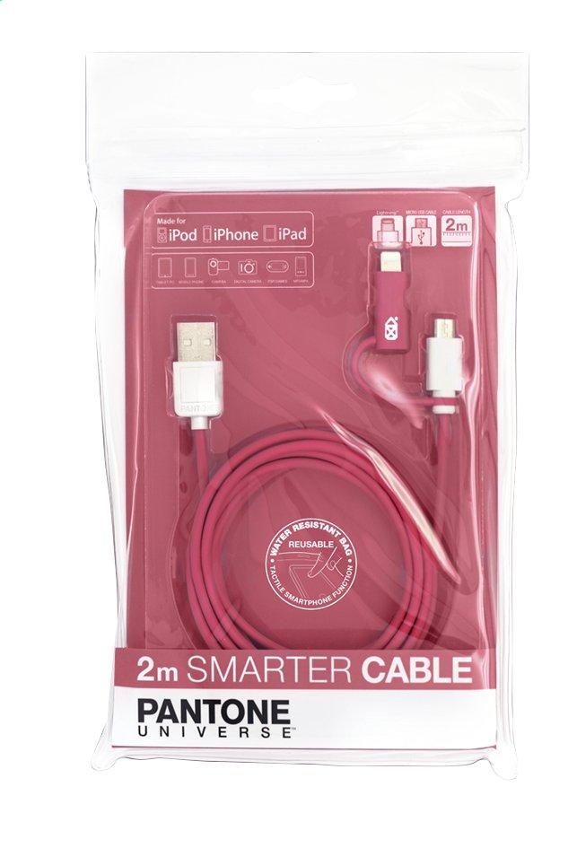 Image pour bigben câble 2 en 1 : micro-USB et Apple Lightning rose à partir de ColliShop