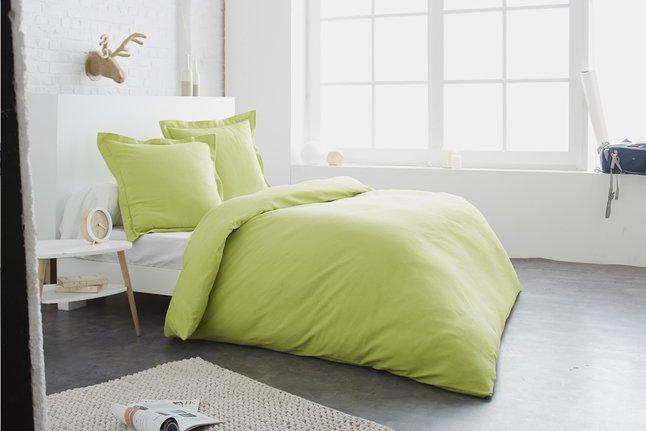 Image pour Home lineN Housse de couette Uni lime flanelle 260 x 240 cm à partir de ColliShop