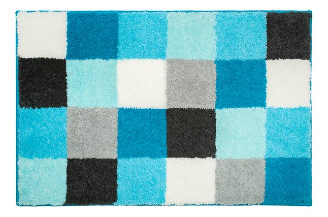 Casilin Badmat Blocks aqua 90 x 60 cm