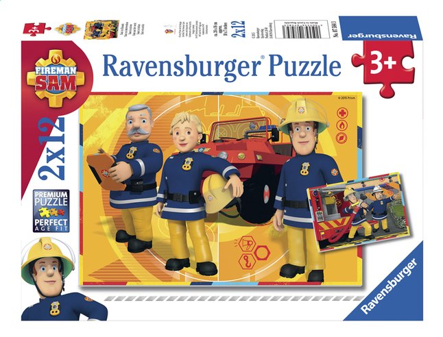 Afbeelding van Ravensburger Puzzel 2-in-1 Brandweerman Sam aan het werk from ColliShop