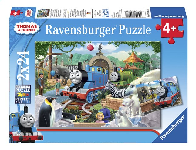 Afbeelding van Ravensburger puzzel 2-in-1 Thomas & Friends Dierenpark from ColliShop