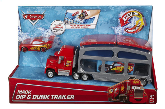 Afbeelding van Autotransport Disney Cars Mack Dip & Dunk Trailer from ColliShop