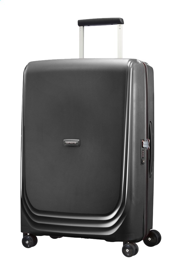 Afbeelding van Samsonite Harde reistrolley Optic Spinner metallic black 69 cm from ColliShop