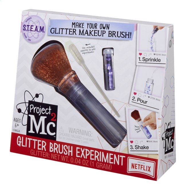 Afbeelding van Project Mc² S.T.E.A.M. Experiment Glitter Brush from ColliShop