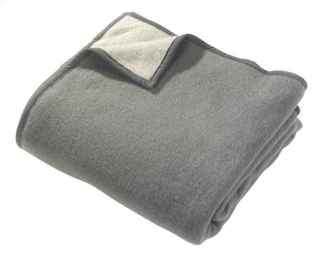 Image pour Sole Mio couverture en laine gris/gris clair à partir de ColliShop