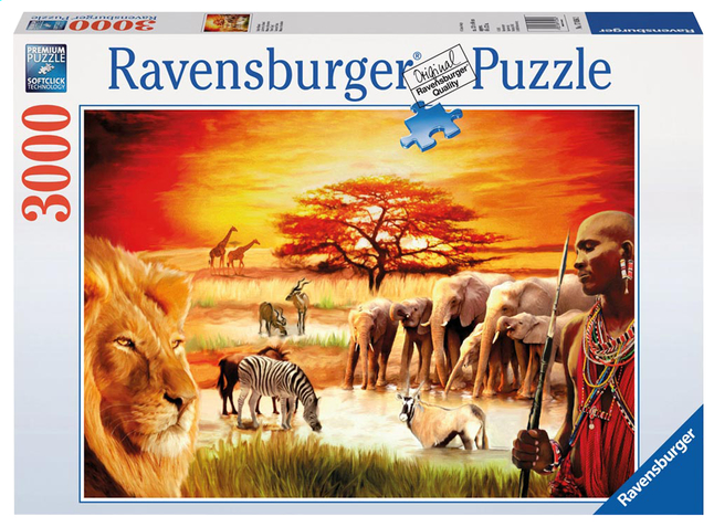Afbeelding van Ravensburger puzzel Troste Masai from ColliShop
