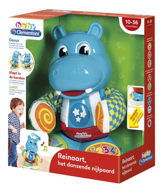 baby Clementoni interactieve figuur Reinaart het dansende nijlpaard NL