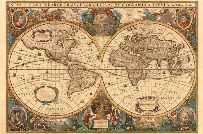 Afbeelding van Ravensburger puzzel Antieke wereldkaart from ColliShop