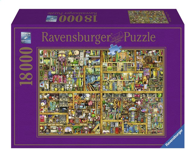 Afbeelding van Ravensburger puzzel Magical Bookcase from ColliShop