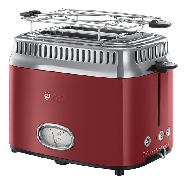 Afbeelding van Russell Hobbs Broodrooster Retro Red 21680-56 from ColliShop