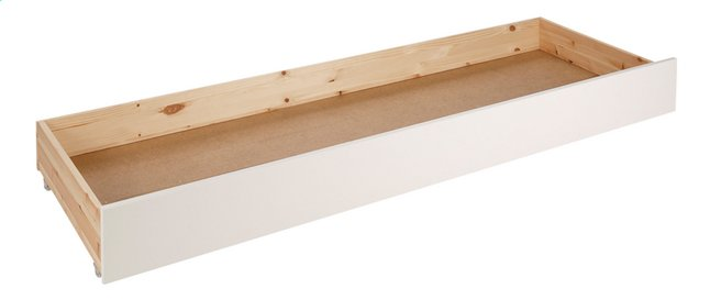 Tiroir de rangement/lit d'appoint lit-banquette Pino blanc