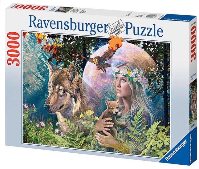 Afbeelding van Ravensburger puzzel Wolven in de maneschijn from ColliShop