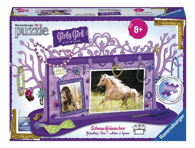 Afbeelding van Ravensburger 3D-puzzel Girly Girl juwelenboom paarden from ColliShop