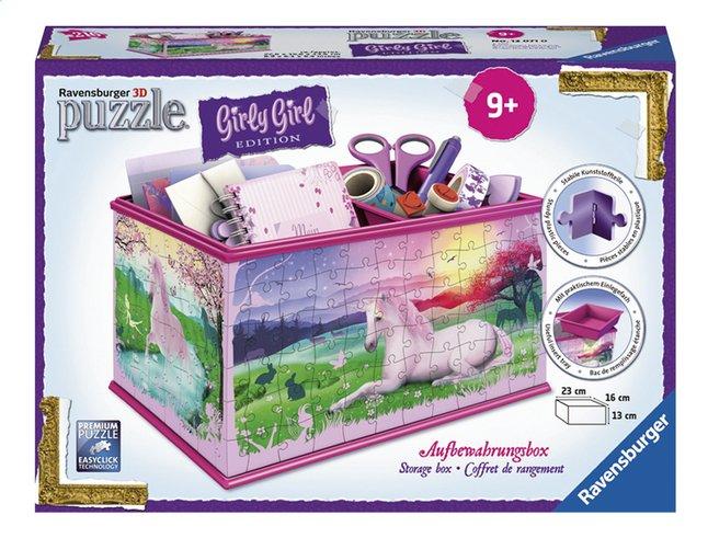 Image pour Ravensburger Puzzle 3D Girly Girl Coffre de rangement avec licorne à partir de ColliShop