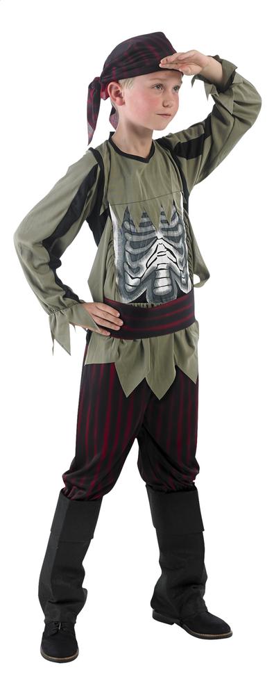 Afbeelding van Verkleedpak piraat met skelet op buik maat 128 from ColliShop