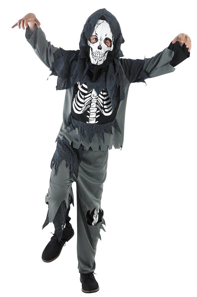 Afbeelding van Verkleedpak zombie met skelet op buik from ColliShop