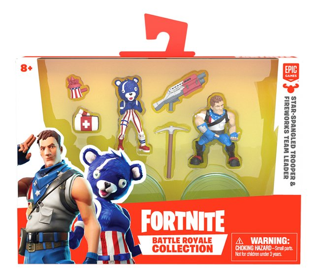Afbeelding van Figuur Fortnite Star-Spangled Trooper & Fireworks Team Leader from ColliShop